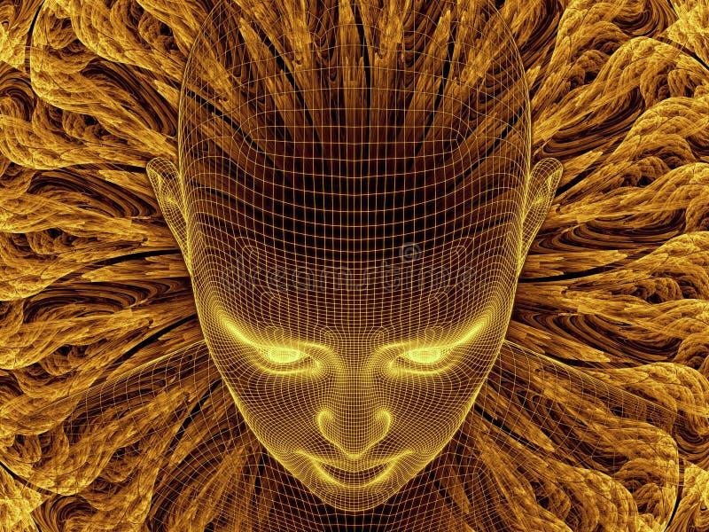 Vision de la identidad de Digitaces ilustración del vector