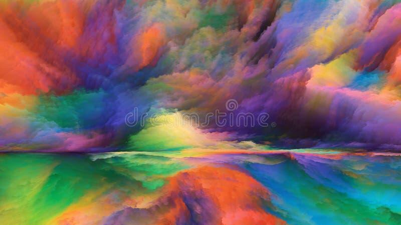 Vision de paysage abstrait illustration libre de droits