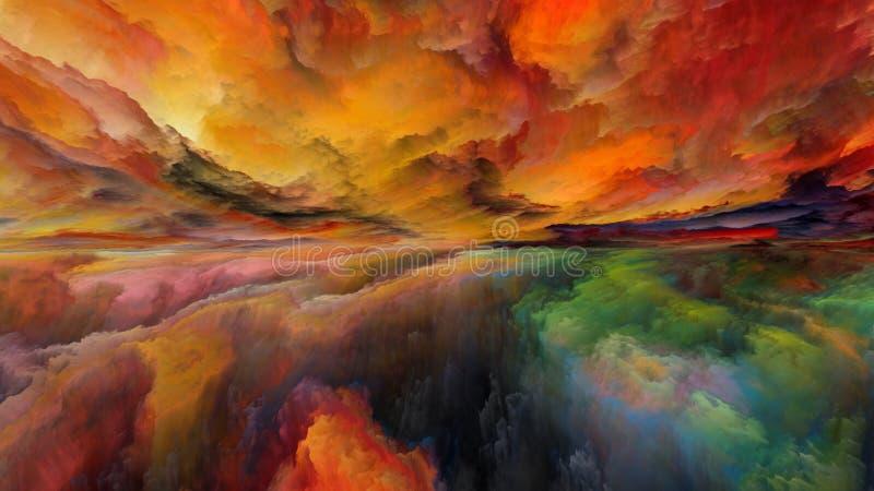 Vision del paisaje abstracto ilustración del vector