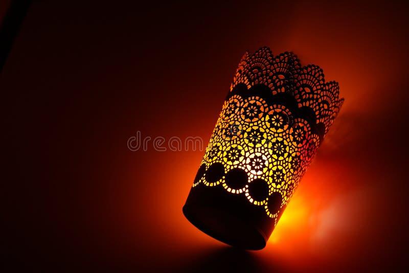 Vision del pote cilíndrico de la decoración islámica del modelo fotografía de archivo libre de regalías