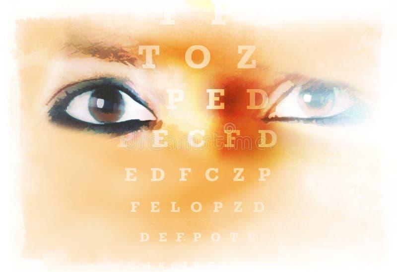 Vision för öga för ögonshartprov royaltyfri bild