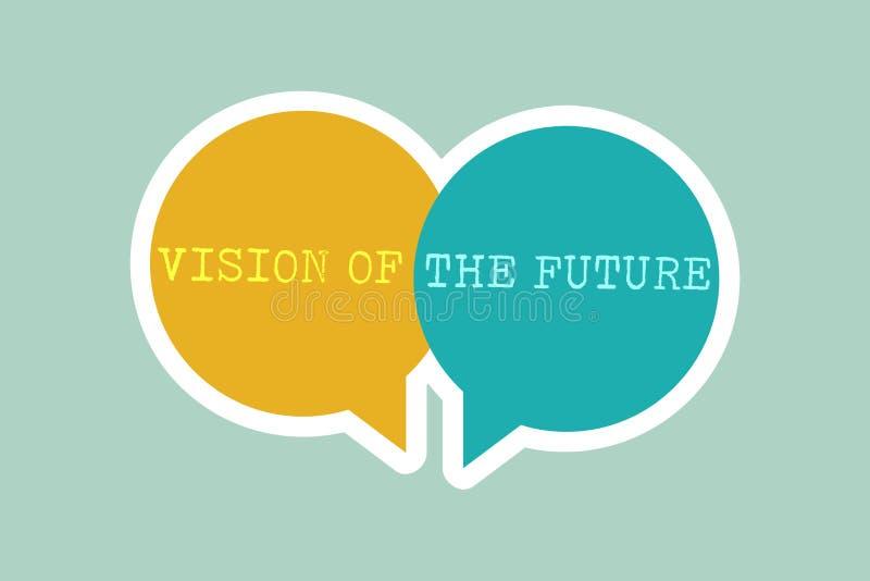 Vision för handskrifttexthandstil av framtiden Begreppsbetydelse som ser något framåt en klar handbok av handling royaltyfri illustrationer
