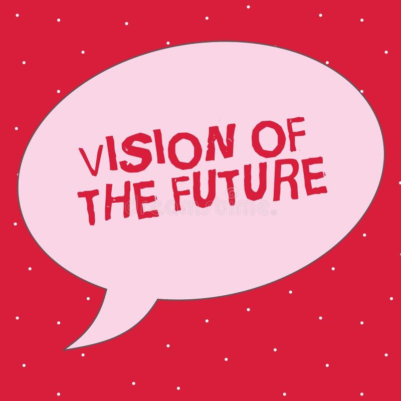 Vision för ordhandstiltext av framtiden Affärsidé för att se något framåt en klar handbok av handling royaltyfri illustrationer