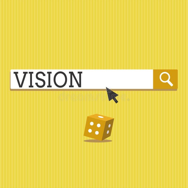 Vision för textteckenvisning Begreppsmässigt foto som är i stånd till att se den sakliga inspirationplanläggningen för framtid royaltyfri illustrationer