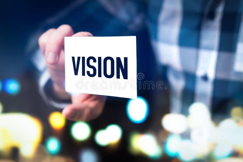Vision, framtida idé-, förtänksamhet- och utvecklingsbegrepp arkivfoton