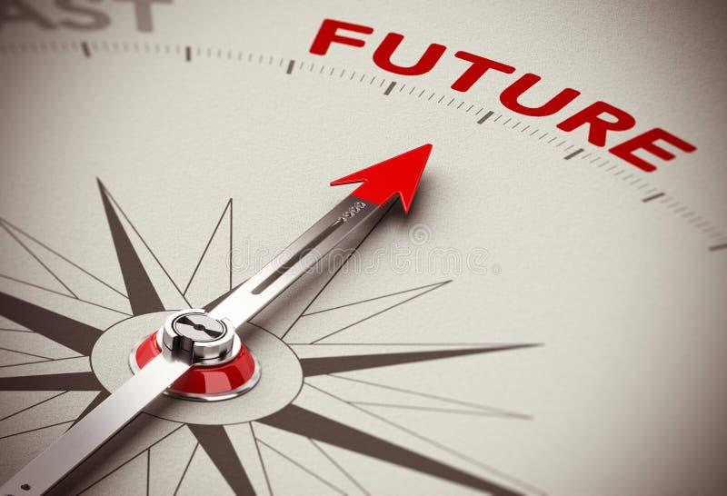 Vision futuro stock de ilustración