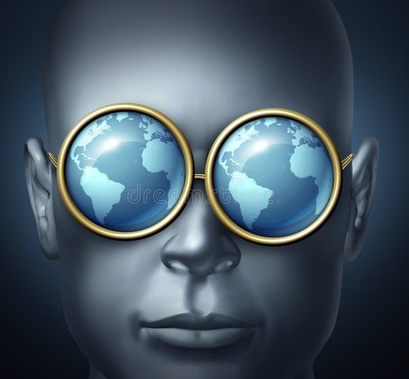 Vision globale illustration stock
