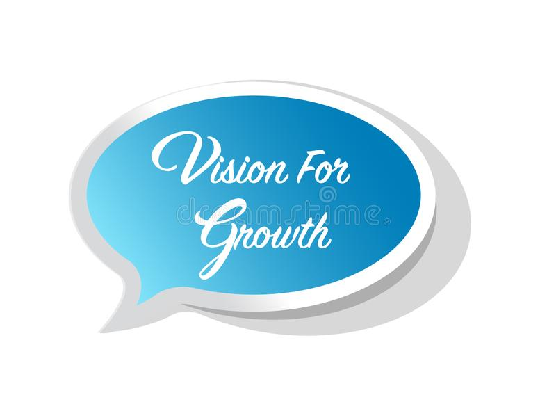 Vision for growth bright message bubble vector illustration