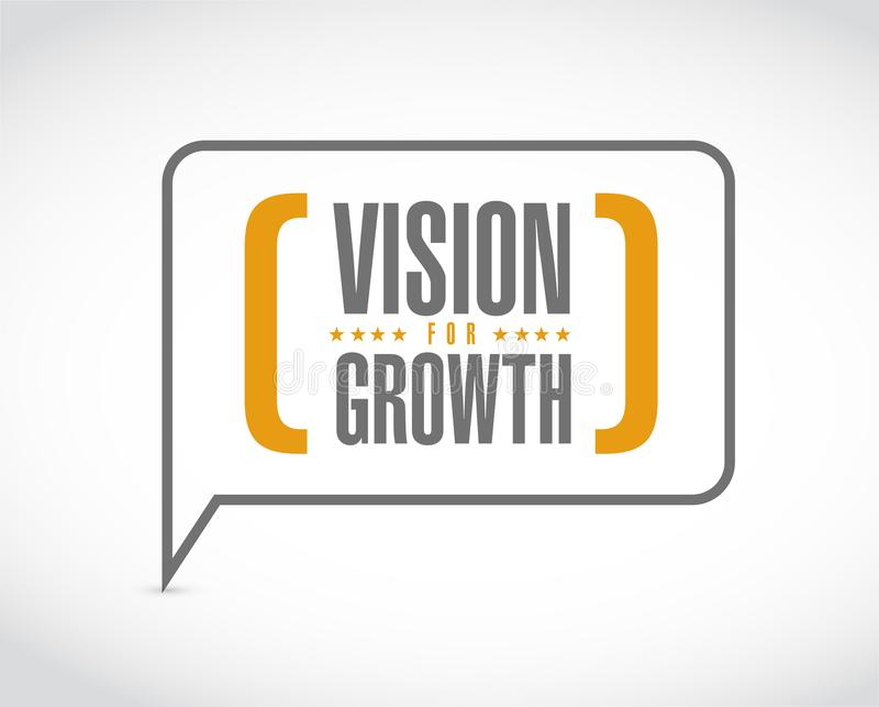 Vision for growth message bubble vector illustration