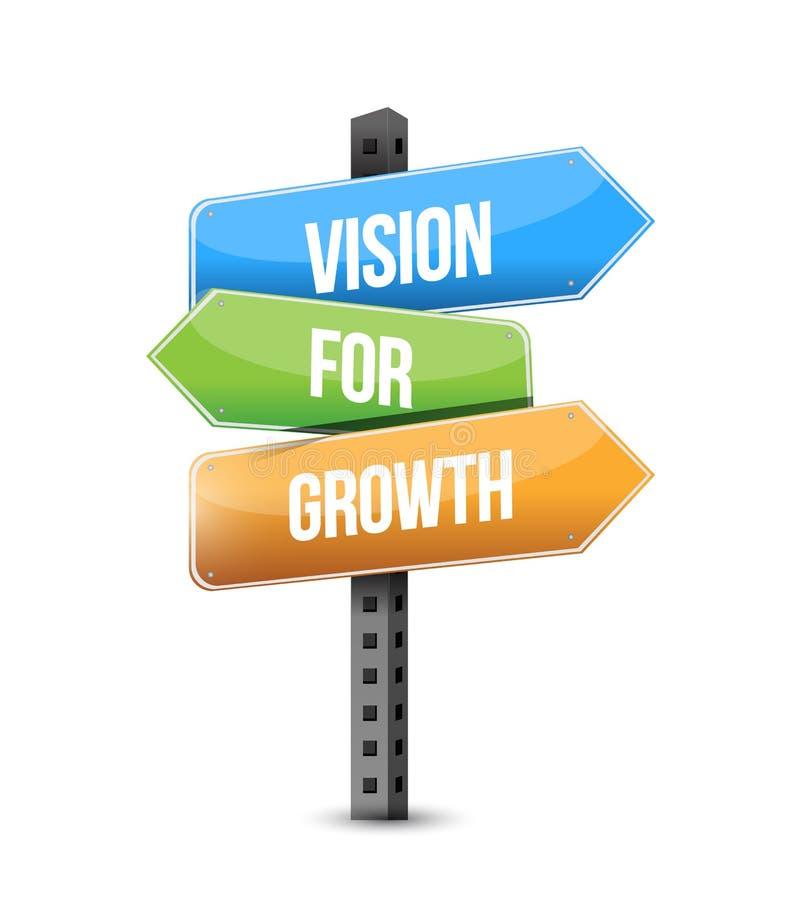 Vision for growth multiple destination color street sign royalty free illustration