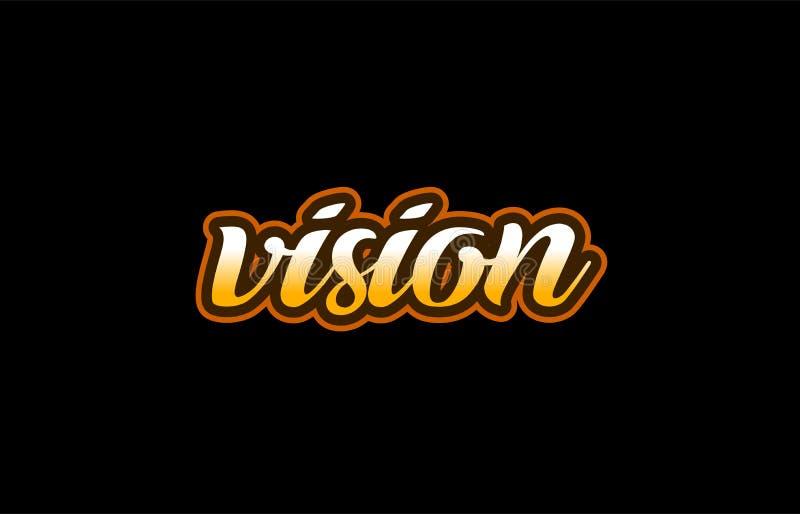 vision word text banner postcard logo icon design creative concept idea vector illustration