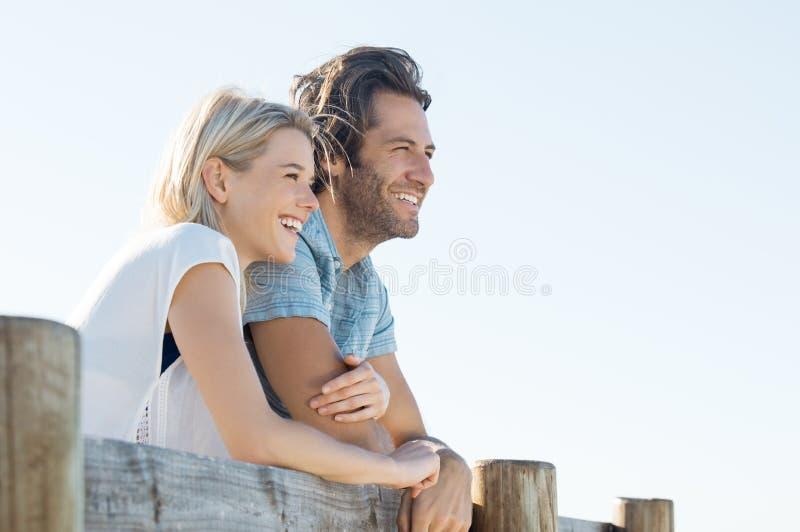 Vision heureuse de couples photo stock