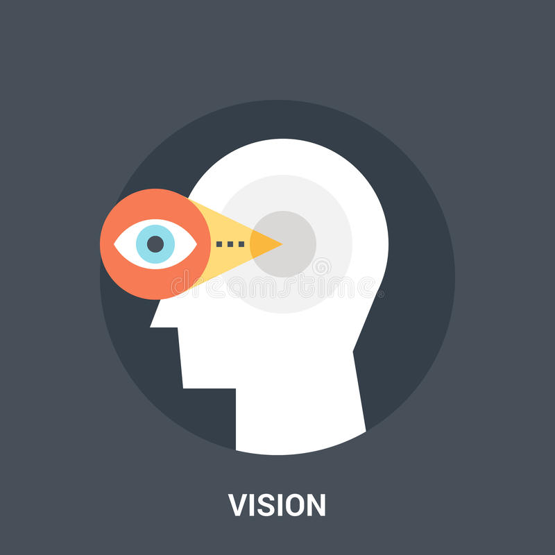 Vision icon concept vector illustration