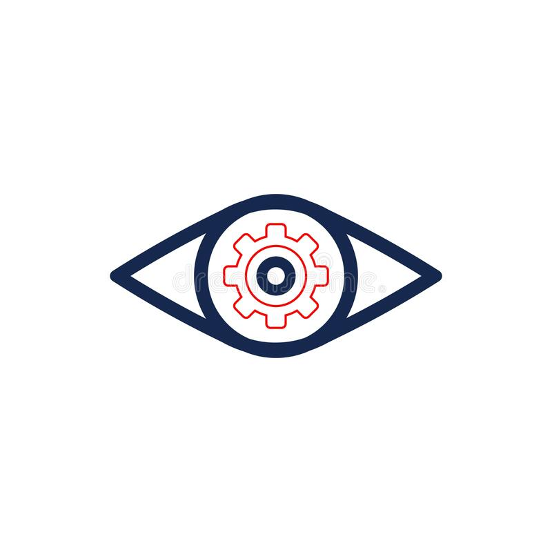 Eye . On A White Background In A Bright Circle Stock