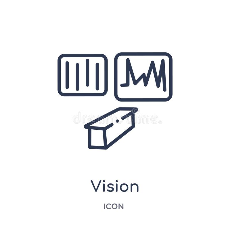 Vision icon from museum outline collection. Thin line vision icon isolated on white background vector illustration