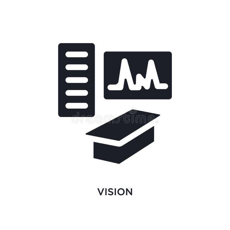 vision isolerad symbol enkel beståndsdelillustration från museumbegreppssymboler för logotecken för vision redigerbar design för  royaltyfri illustrationer