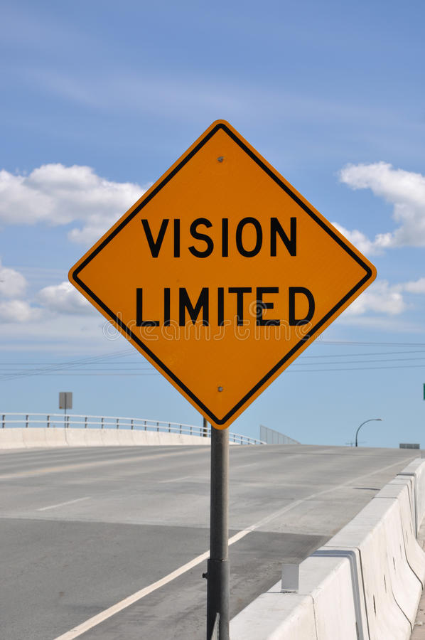 Free Vision Limited Road Sign Stock Image - 25923981