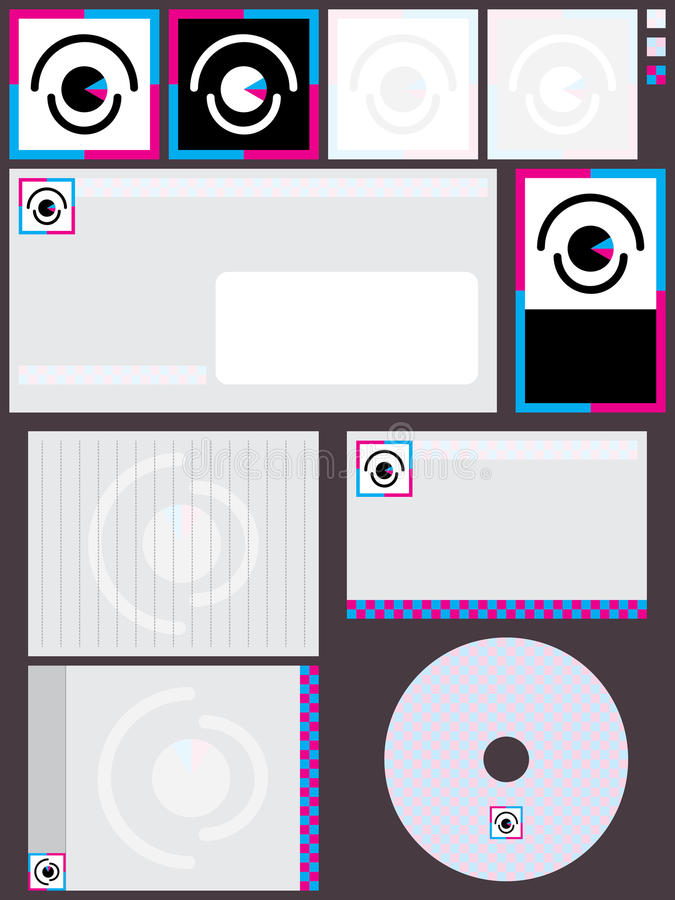 Vision Logo Set vektor illustrationer