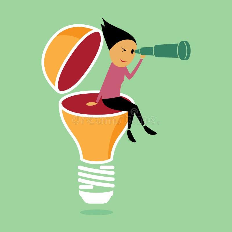 Vision och idéer royaltyfri illustrationer