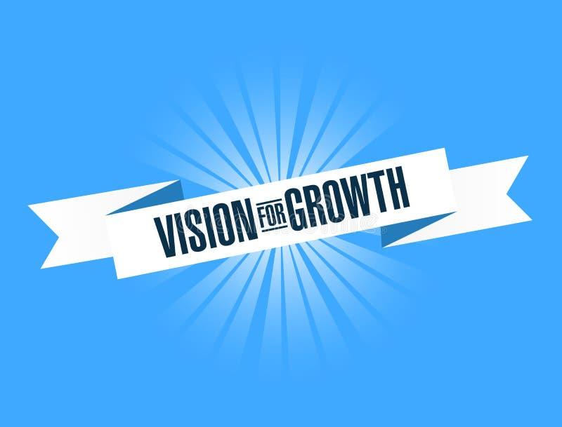 Vision para el mensaje brillante de la cinta del crecimiento stock de ilustración