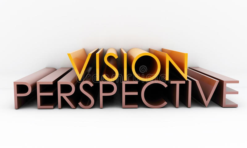 Download Vision perspective stock illustration. Image of words - 41382101