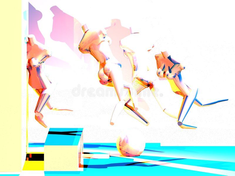 A Vision of Runner Mannequin royalty free illustration