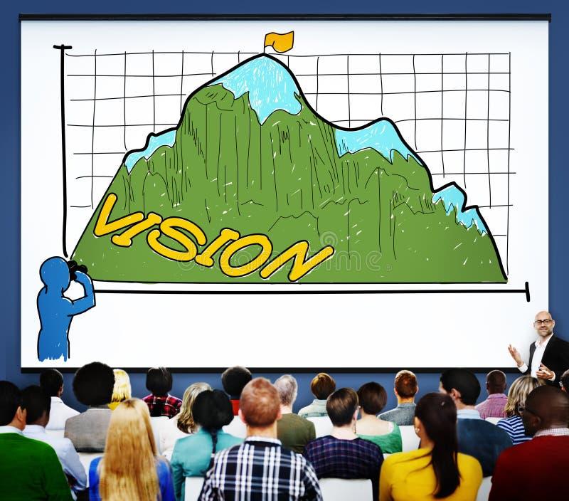 Vision Sight Goals Success Triumph Concept.  stock illustration