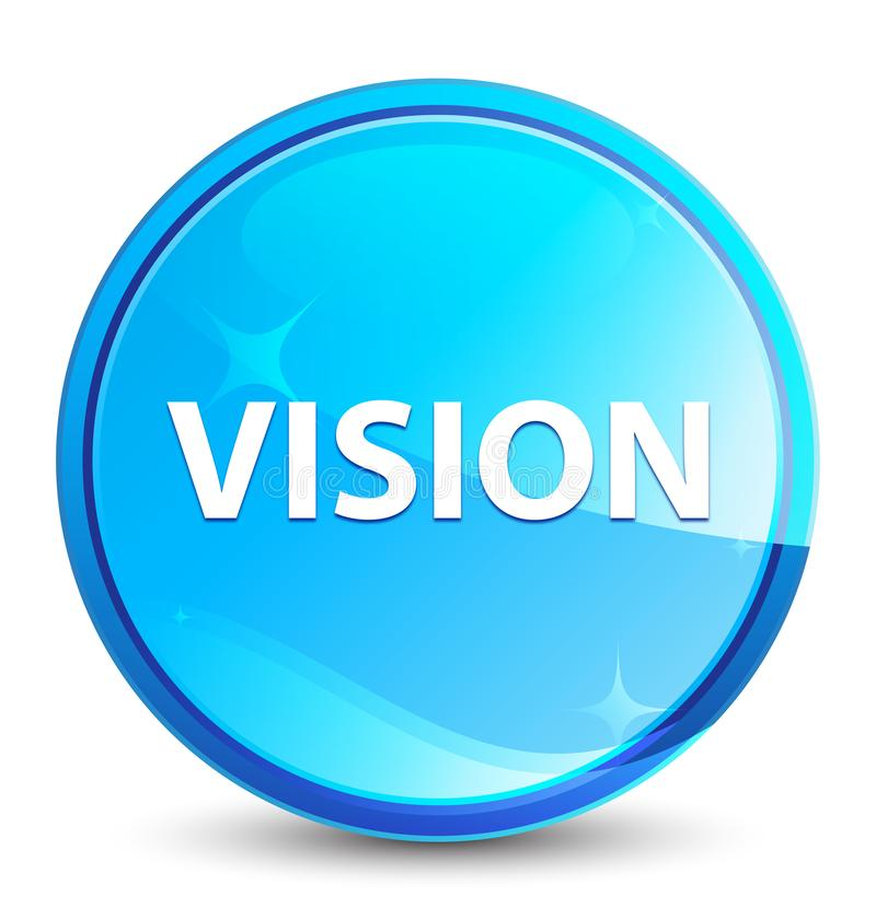Vision splash natural blue round button stock illustration