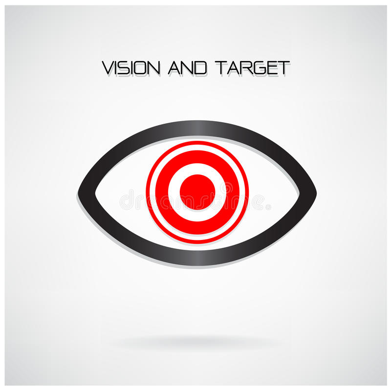 Vision and target concept ,eye symbol,business idea vector illustration