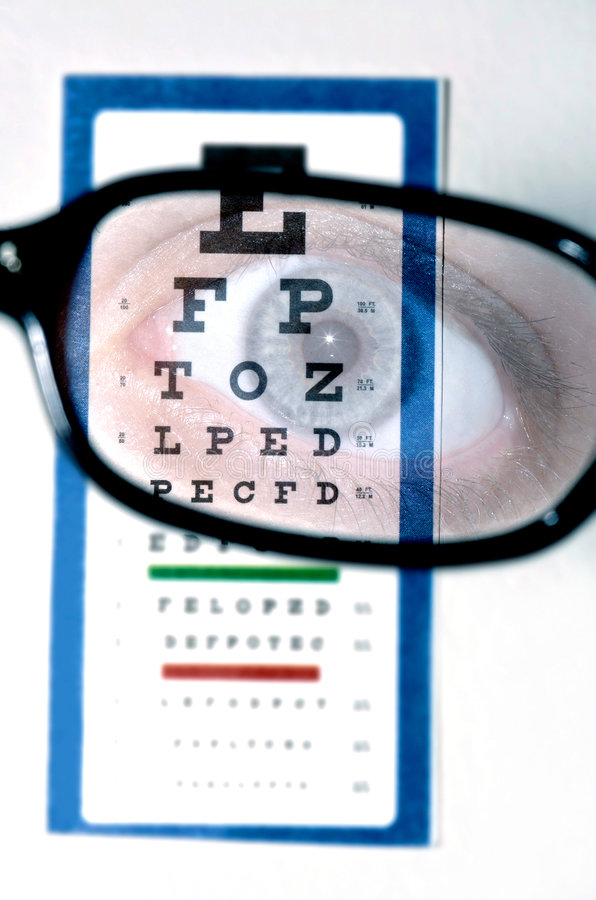 Download Vision test with eye stock image. Image of myopia, glasses - 1233573