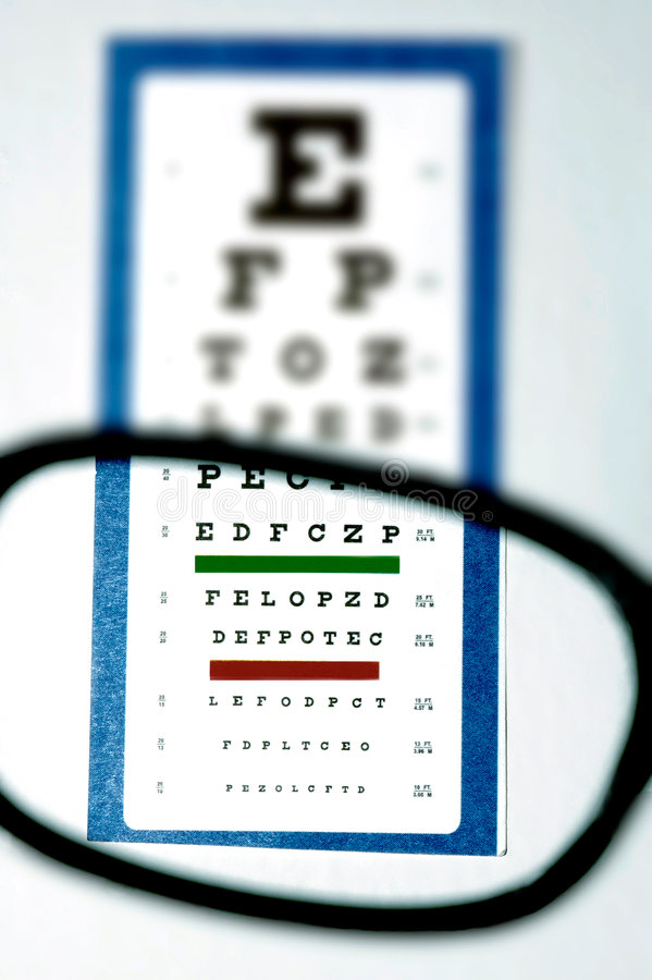 Download Vision test for glasses stock photo. Image of nearsighted - 1230076