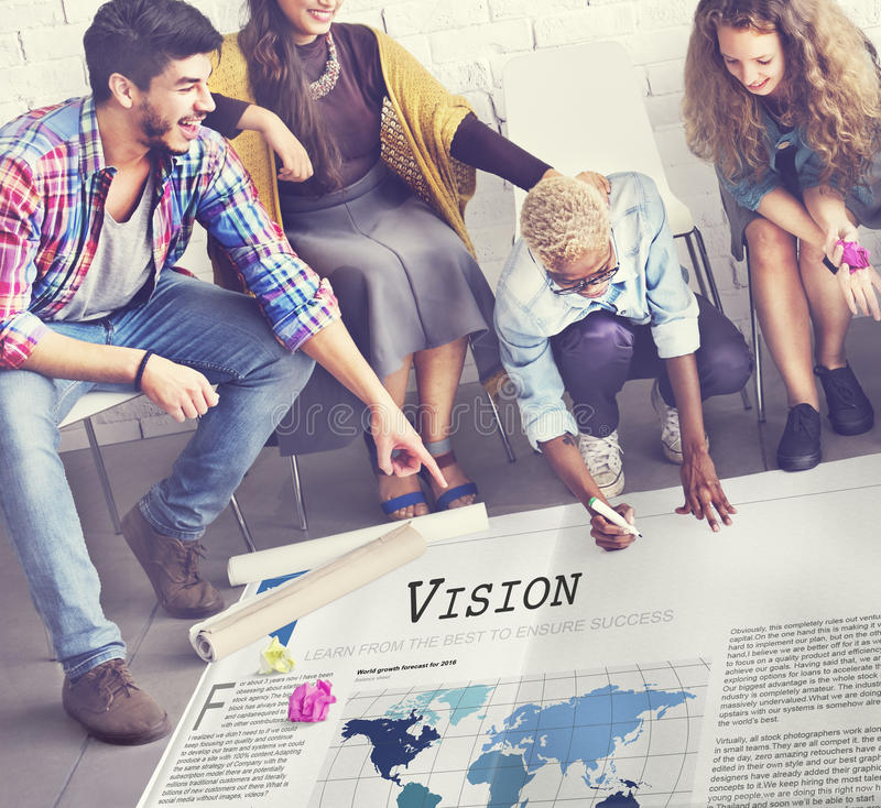 Vision Value Inspiration Motivation Objective Concept.  royalty free stock photo