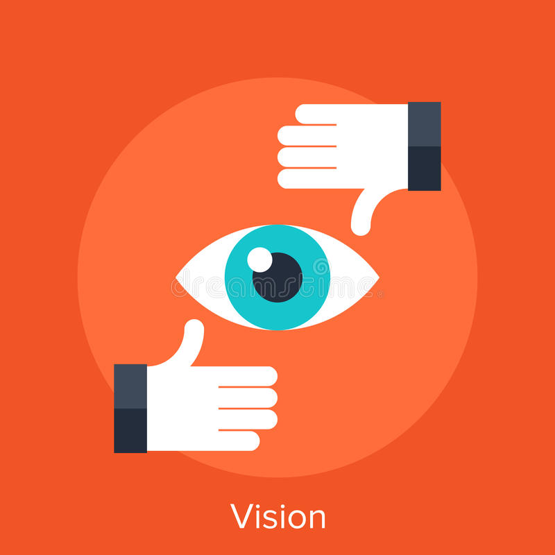 Vision. Vector illustration of vision flat design concept royalty free illustration