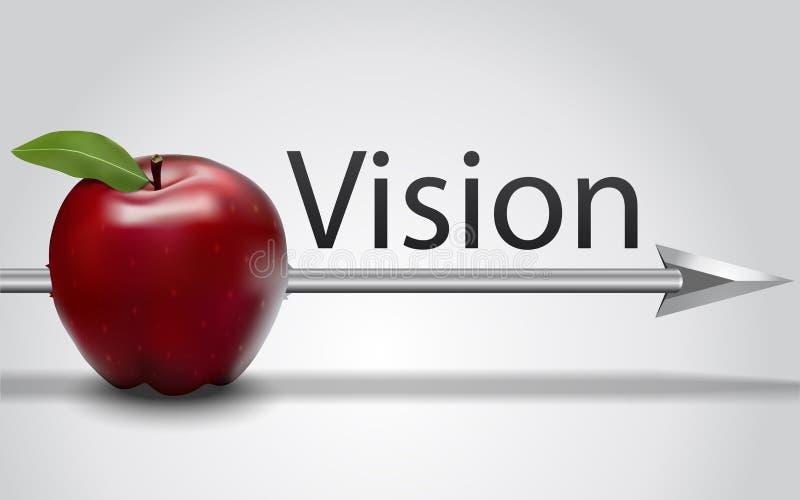 Vision, Vektorgraphik lizenzfreie stockfotos