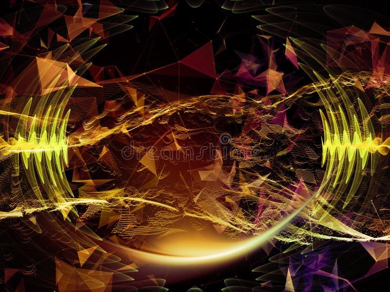 Vision of Virtual World vector illustration