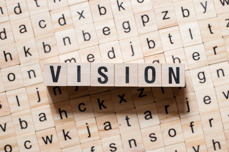 Vision word concept royalty free stock photography