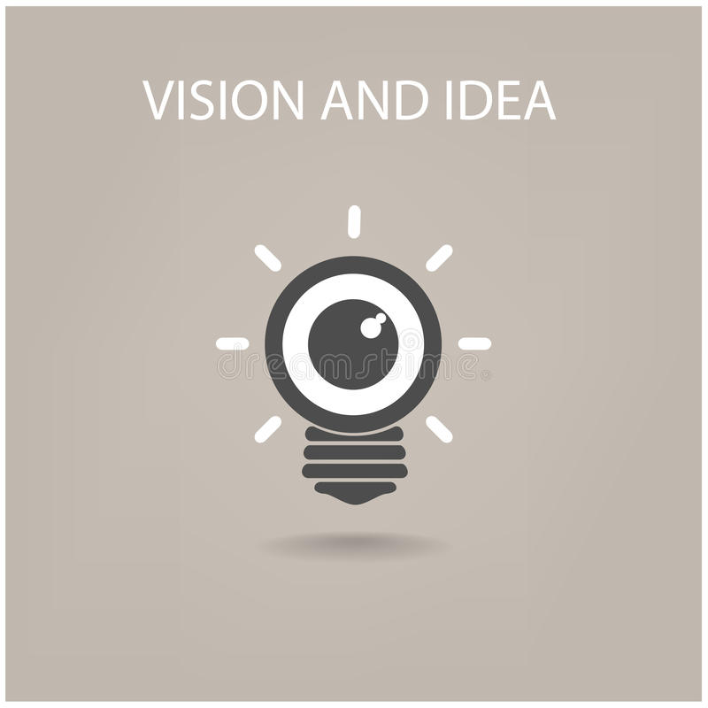 Vision y muestra de las ideas stock de ilustración