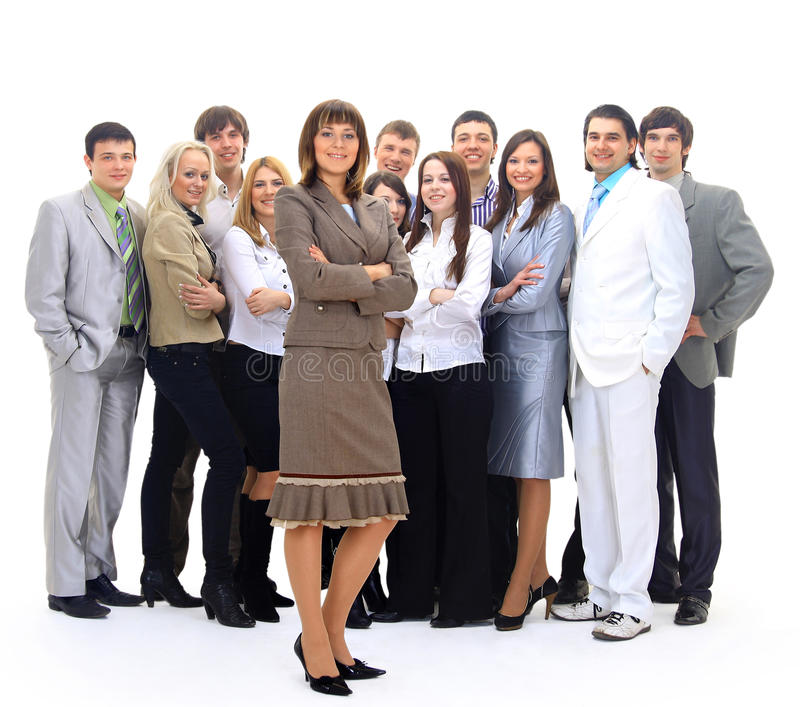 Visionary young business group stock image