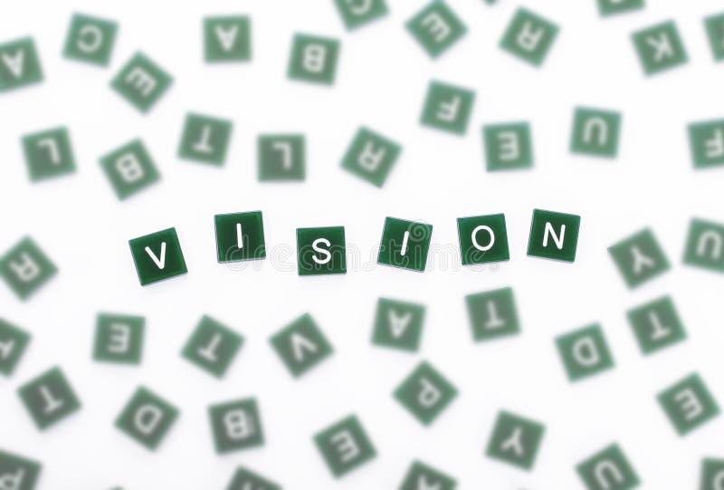 Visione - chiare lettere contro vago fotografie stock libere da diritti
