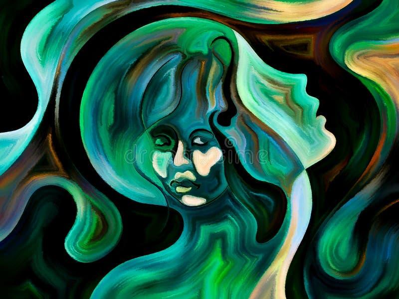 Visione delle forme di ego illustrazione vettoriale
