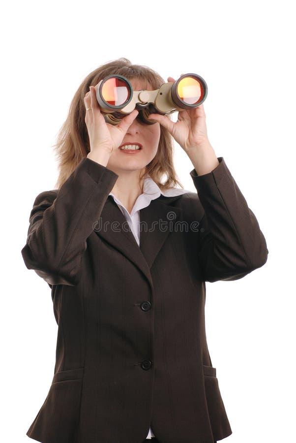 Visione di affari (binocolo) immagine stock