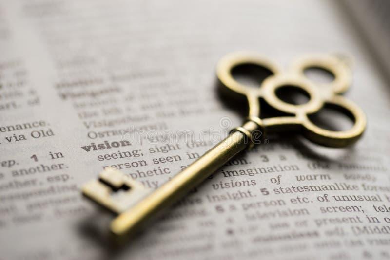 Visione di concetto chiave di successo di affari immagini stock