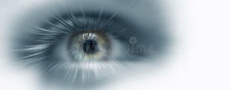 Visione di futuro dell'occhio fotografia stock