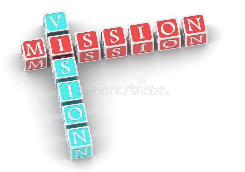 Visione di missione illustrazione vettoriale
