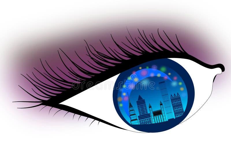 Visione di orizzonte in città royalty illustrazione gratis
