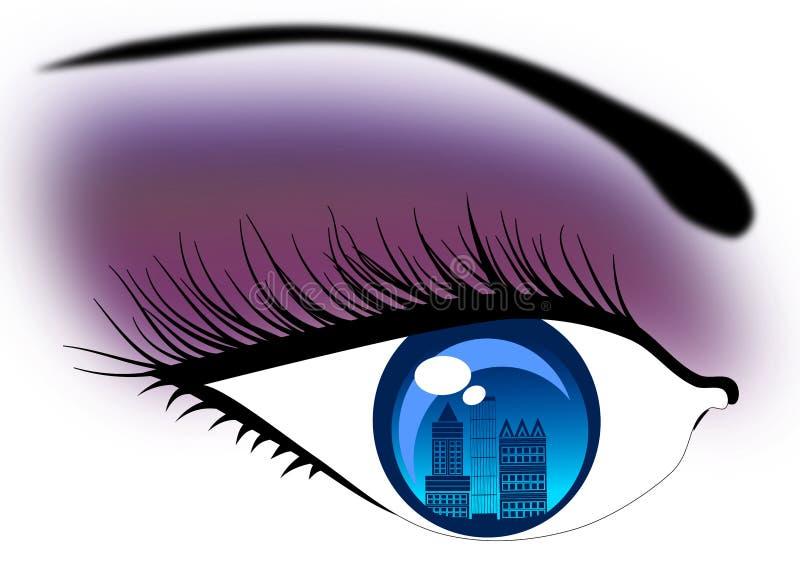 Visione di orizzonte nel concetto della città royalty illustrazione gratis