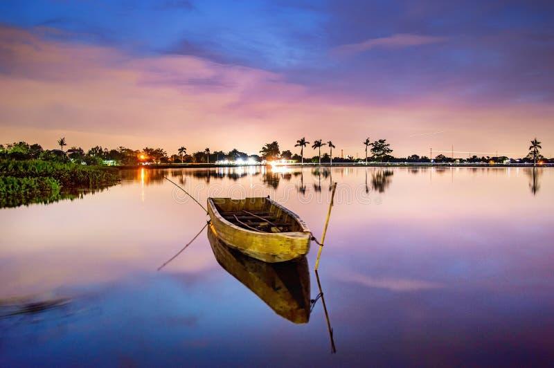 Visione di tramonto di Cipondoh fotografia stock libera da diritti