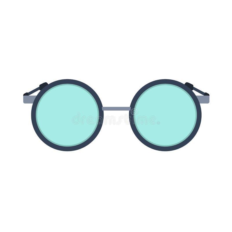 Visione di vetro della lente di occhio dell'icona di vettore della lettura isolata Vista ottica della montatura per occhiali di m royalty illustrazione gratis