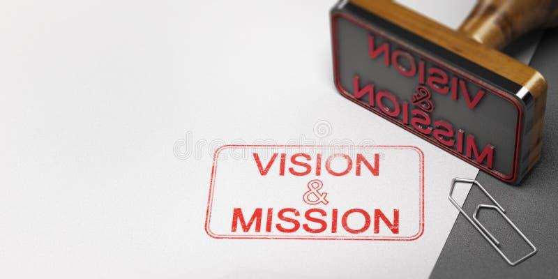 Visione e dichiarazione di missione di affari royalty illustrazione gratis