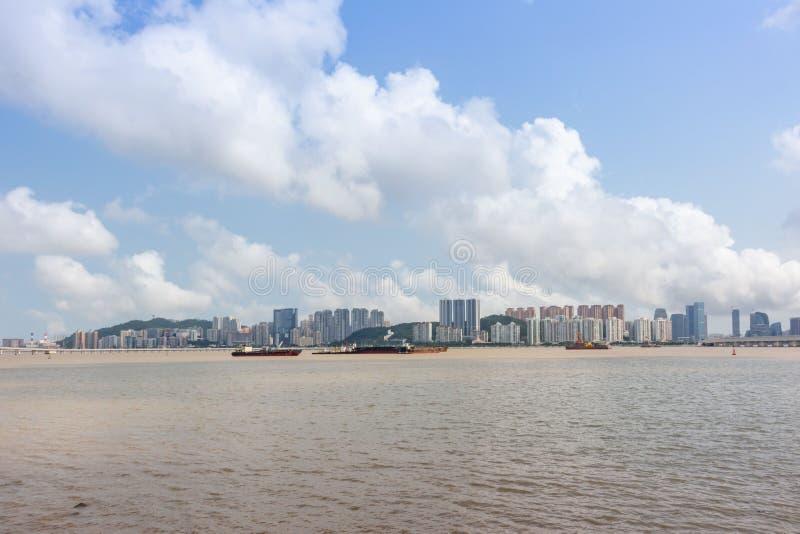 Visionnement d'île de Taipa de péninsule de Macao photographie stock